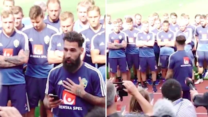 Sweden Squad Say 'F*ck Racism' In Message To Trolls After Jimmy Durmaz Suffers Abuse