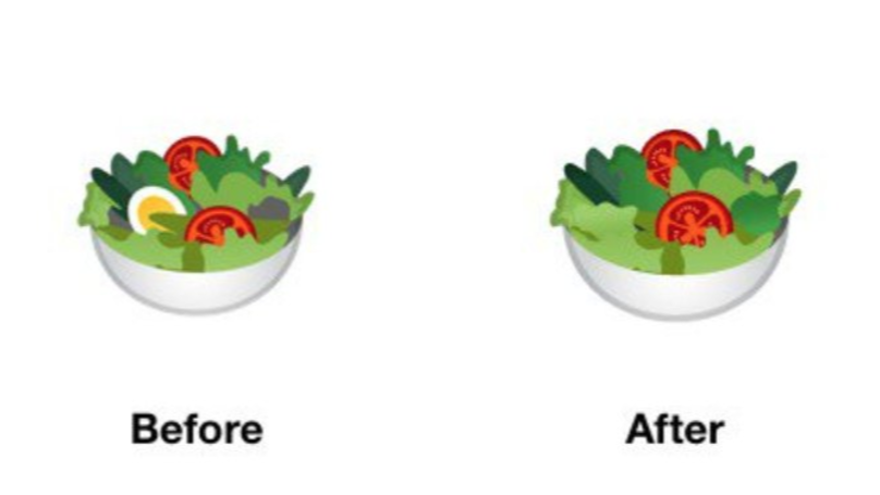 ​Google Redesigns Salad Emoji So That It's 'More Inclusive' To Vegans