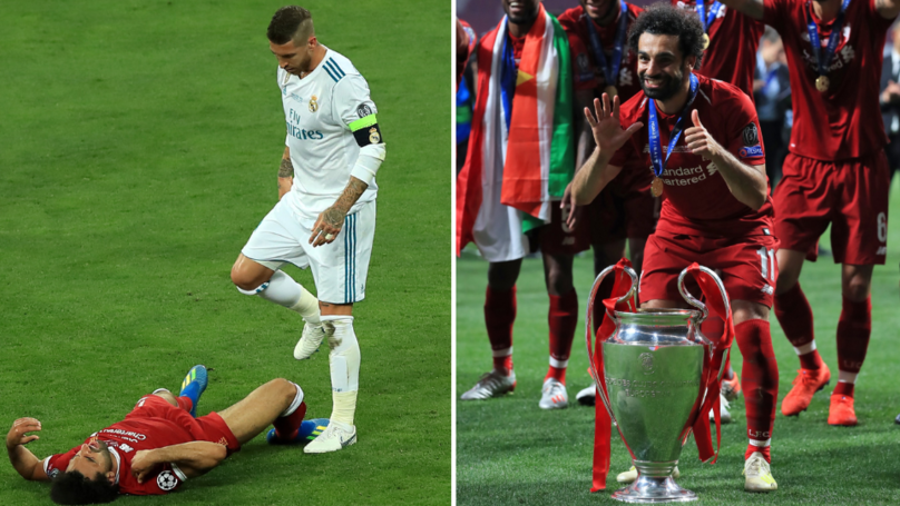 Mo Salah Looked At Image Of Himself From 2018 Champions League Final Before This Year's Triumph
