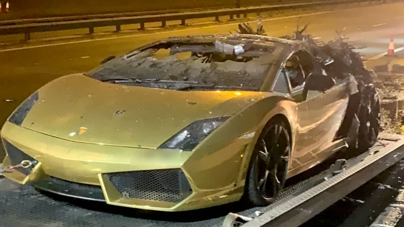 Businessman Watches Lamborghini Go Up In Flames On M6 After £10,000 Service
