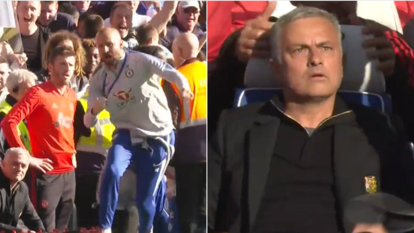Jose Mourinho Goes Crazy After Chelsea Staff Member Marco Ianni Celebrates Equaliser In His Face