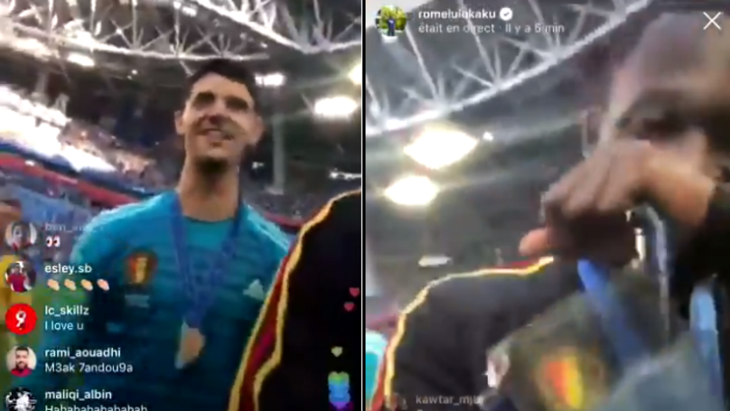 "Watch: Romelu Lukaku Hilariously Asks Thibaut Courtois ""Where Are You Going?"""