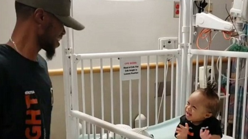 Dad Joyously Dances Next To Son's Hospital Bed To Celebrate Release After Chemotherapy