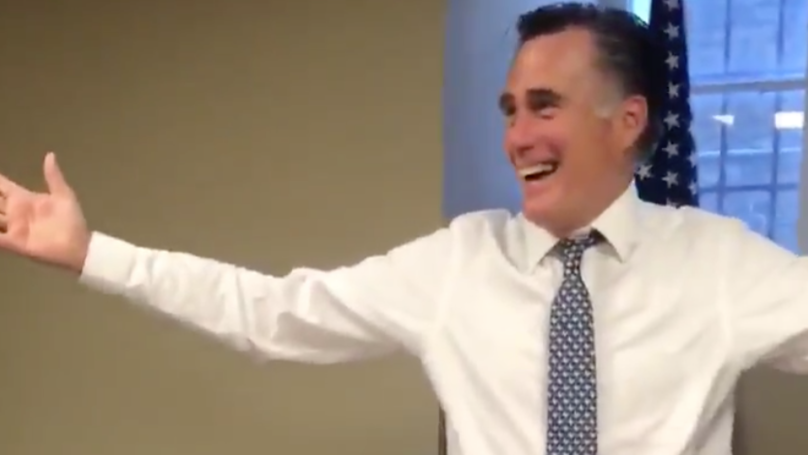 Former US Presidential Candidate Mitt Romney Baffles The Internet After Blowing Out Birthday Candles