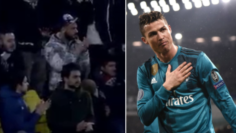 ronaldo juventus applause juventus fans applaud ronaldo s stunning overhead kick his response is class sportbible