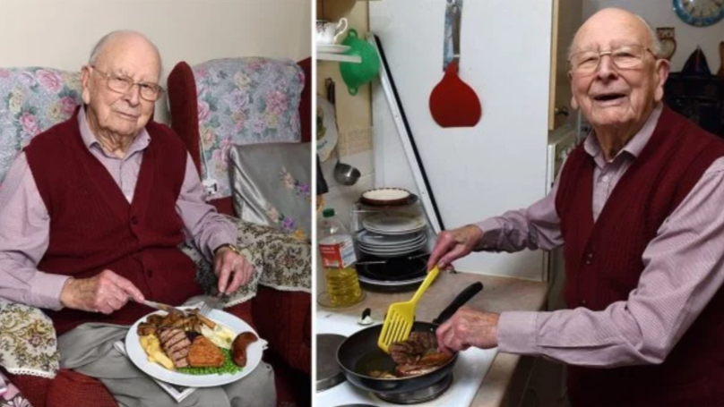 100-Year-Old Claims Key To Long Life Is Daily Mixed Grills And Wine