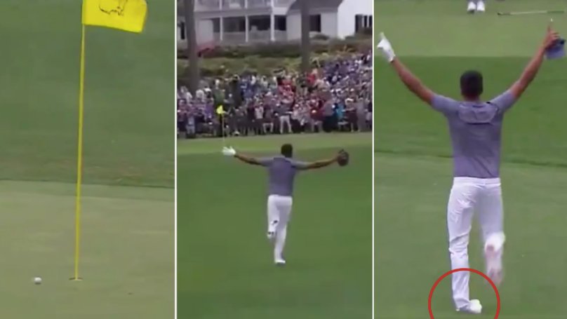 Tony Finau Sinks Hole-In-One, Snaps His Ankle While Celebrating, Then Pops It Back In