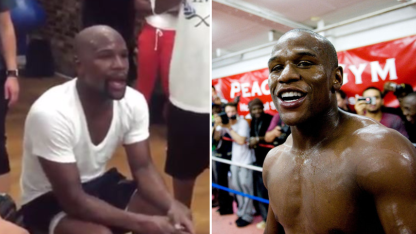 Watch: When Floyd Mayweather Stopped A Workout To Help Young Boxer
