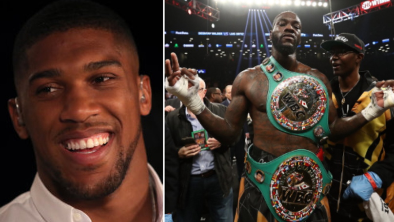 Anthony Joshua Drops Another Hint About A Potential Deontay Wilder Fight