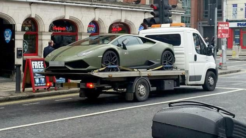 Conor McGregor's £185k Lamborghini Towed Away In Dublin