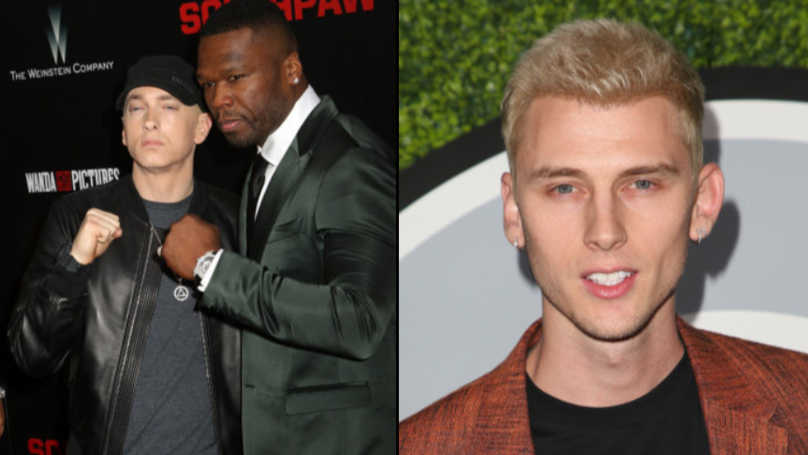 50 Cent Showed His Support For Eminem During Feud With Machine Gun Kelly