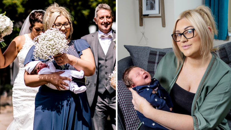 Woman Gave Birth Just Hours Before Attending Her Sister's Wedding