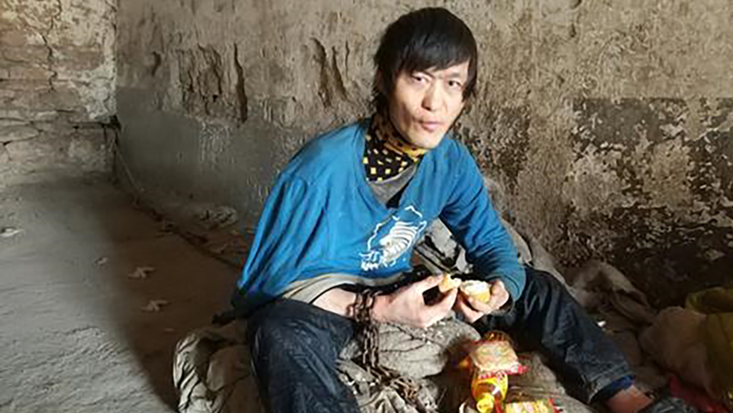 Mentally Ill Chinese Man Chained Outside For More Than Ten Years