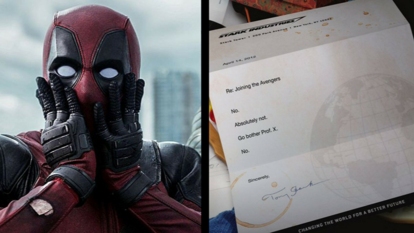 ​Ryan Reynolds Shares Deadpool's Avengers Rejection Letter