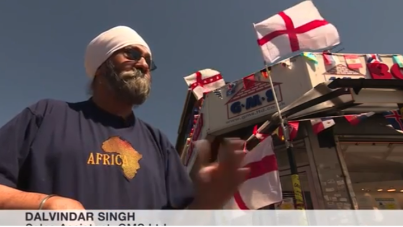 Sikh Shopkeeper Who Was Told To Take Down England Flags Puts More Up Instead