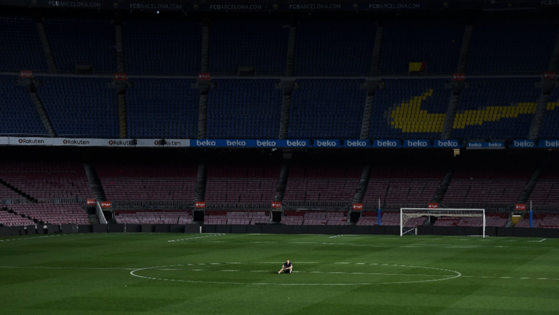 Andres Iniesta Was Still On The Pitch At 1:30am, Sitting On His Own In The Centre Circle