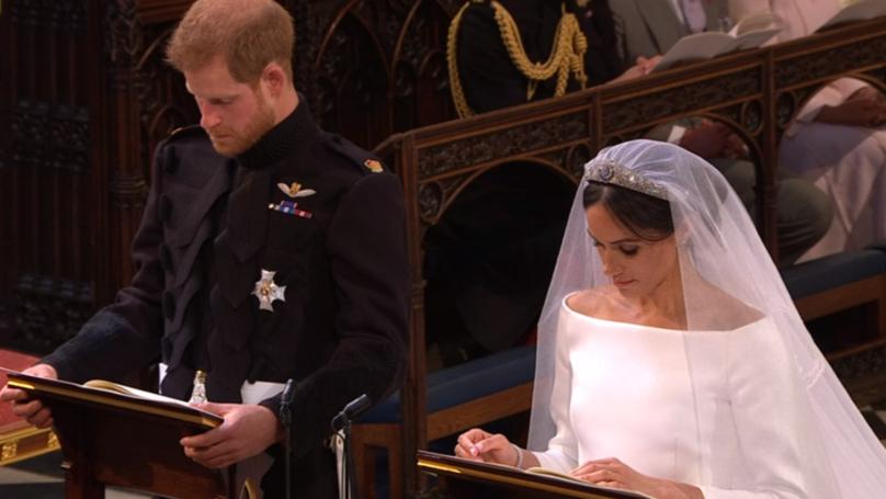 Prince Harry Cries As Meghan Markle Walks Down The Aisle