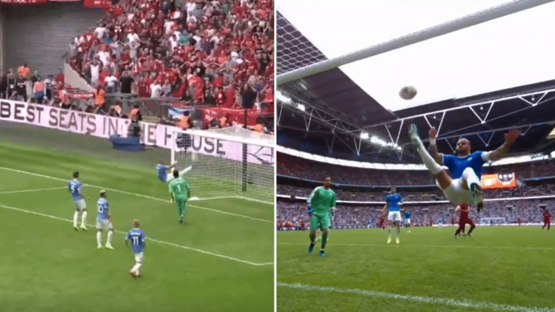 Kyle Walker Produces Incredible Scissor-Kick Clearance On The Line To Deny Mohamed Salah