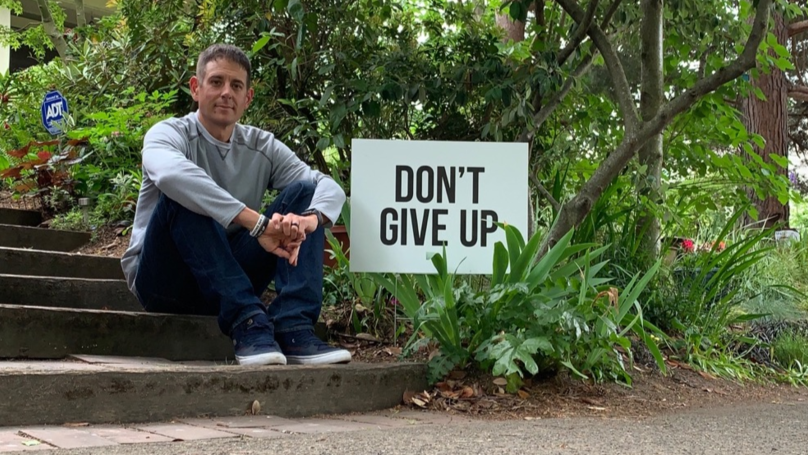 Dad Posts Inspirational Signs Around Town Following Spate Of Teen Suicides