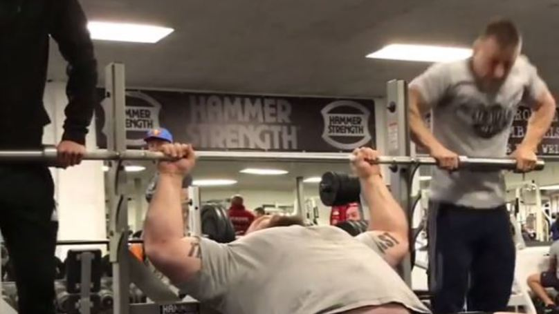 Watch Eddie Hall Bench Press Two Humans Like It's A Fucking Dare