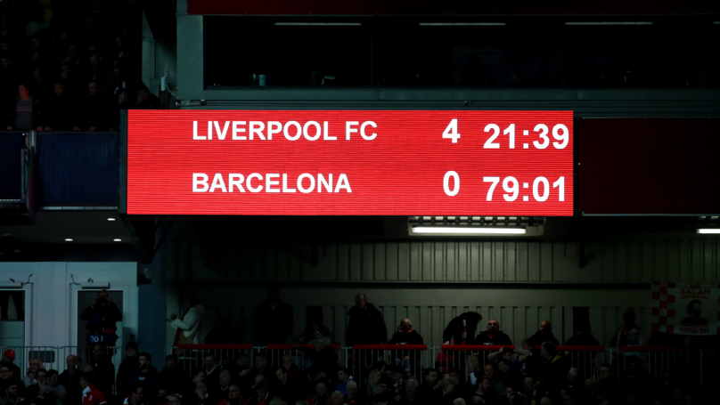 Liverpool Beat Barcelona 4 - 0 To Qualify For Champions League Final