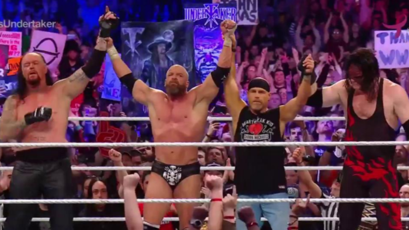 殡仪员和三大H回滚在WWE SSD与史诗般的比赛