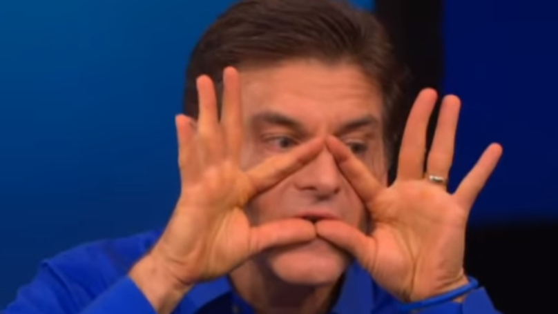 Dr Oz Warns There's A 'Triangle Of Death' On Your Face