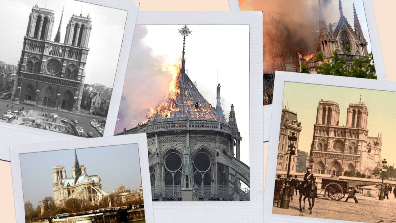 ​Pictures Taken Over 100 Years Apart Show The Rich History Of Notre-Dame