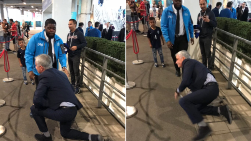 People Were Laughing At Jose Mourinho For Falling Over Last Night