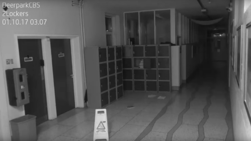 CCTV Camera Captures 'Ghost' Inside Irish High School