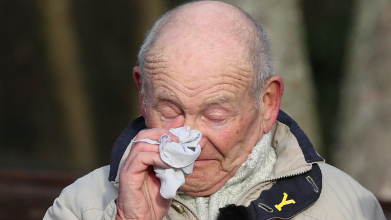 Dream Comes True For The Weeping Pensioner Finally Able To Honour His Heroes