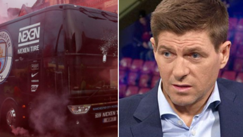 Steven Gerrard's Response To Liverpool Fans Launching Missiles At City Bus Is Spot On