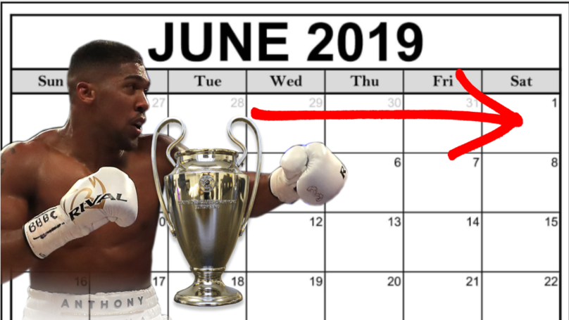 June 1st Is A Day Of Blockbuster Sporting Events