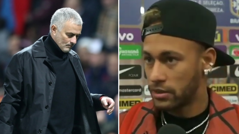 Neymar Reacts To Jose Mourinho Being Sacked By Manchester United