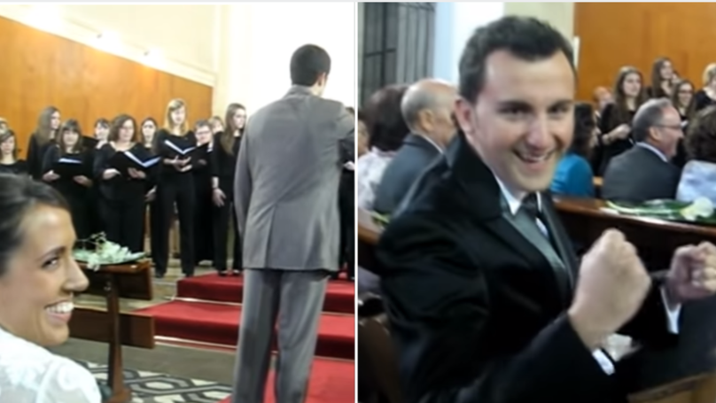 Bride Asks Choir To Sing Champions League Anthem At Wedding To Surprise Husband