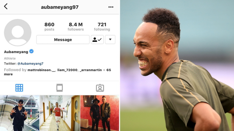Pierre-Emerick Aubameyang Removes Arsenal From His Bio And Profile Picture On Instagram