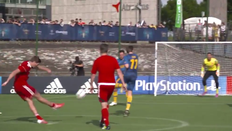 WATCH: Steven Gerrard Scores An Absolute Worldie From Kick-Off