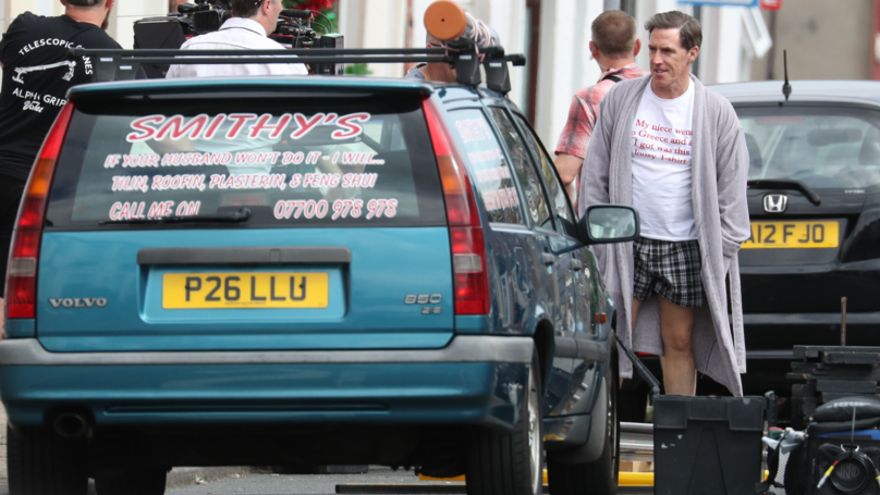 Rob Brydon Spotted Wearing Uncle Bryn's Famous T-Shirt On Gavin And Stacey Set