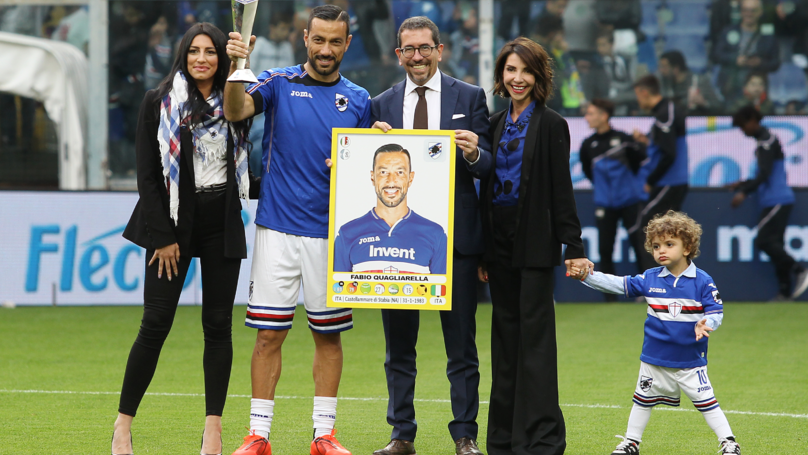 36-Year-Old Fabio Quagliarella Finishes The Top Scorer In Serie A This Season