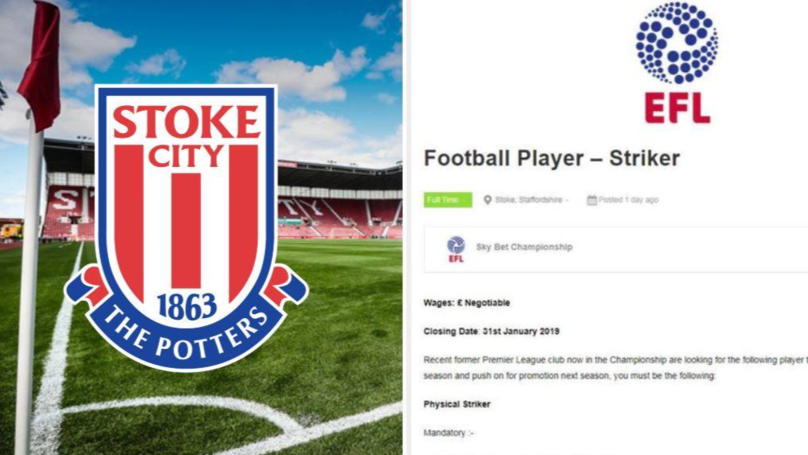Stoke City Look For Three 'Champions League Experienced' Players On Job Site