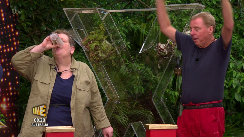 ​'I'm A Celeb' Viewers Claim Anne Hegerty Downed A Glass Of Coke In Live Trial