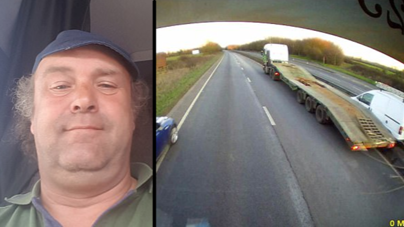 Hero Lorry Driver Stops Runaway Van With His HGV In Incredible Footage