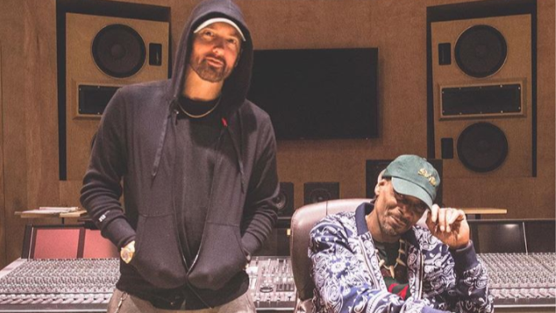 Snoop Dogg And Eminem Have Hinted At New Music Together With Studio Photograph