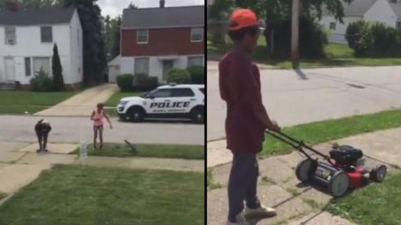 Neighbours Call Police On 12-Year-Old Boy Mowing Lawn