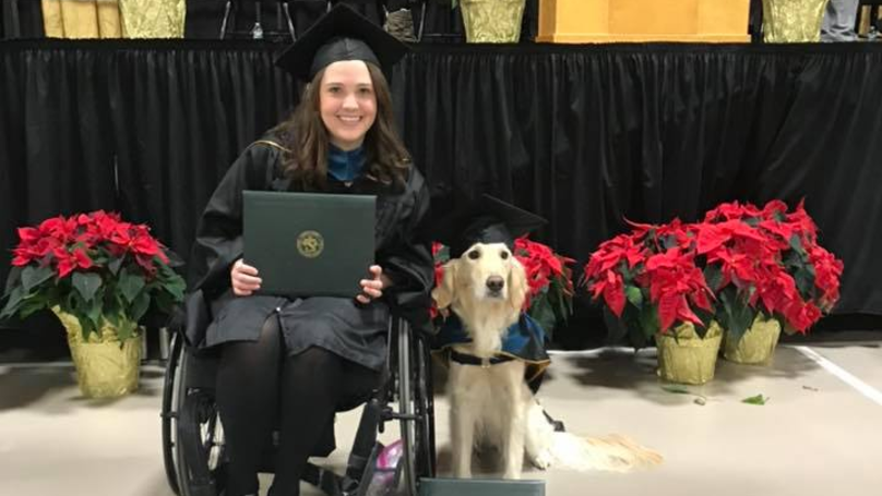 Service Dog Given Honorary Diploma When Owner Gets Degree