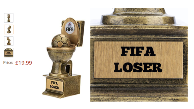 You Can Buy A 'FIFA Loser Trophy' For Your Mate Who's Terrible At FIFA