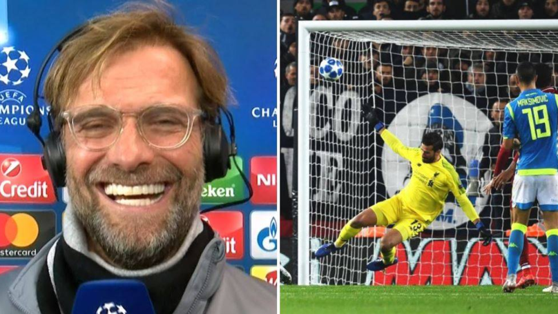 "Jurgen Klopp: ""If I Knew Alisson Was This Good, I Would Have Paid Double!"""