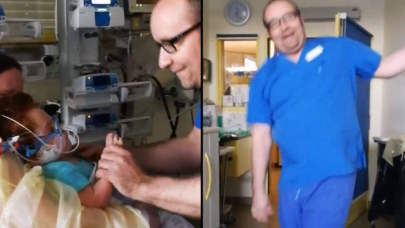 Doctor Promises To Dance Every Time Patient Feels Better And Makes The Child's Day