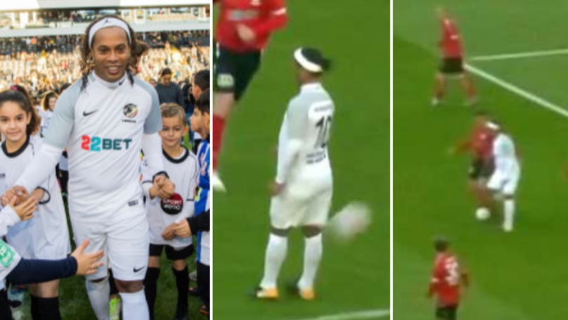 Ronaldinho Plays In Charity Match, He's Genuinely Still Got It