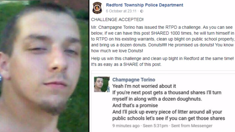 'Wanted Man' Taunts Police Department On Facebook And It Backfires